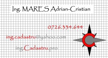 Inginer Cadastru MARES Adrian Cristian - contact